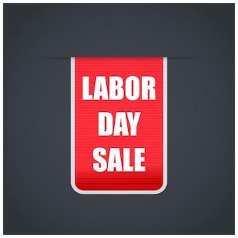 Rode dag van de arbeid verkoop tag