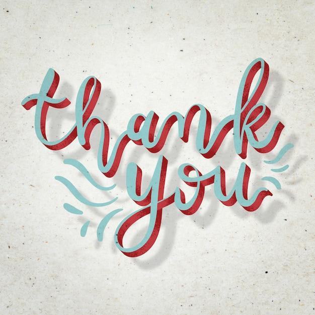 Rode dank u doodle tekst lettertype typografie
