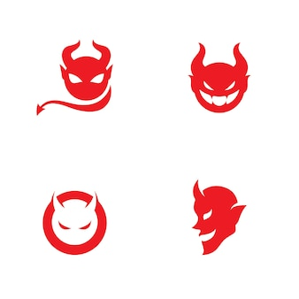 Rode duivel logo vector pictogrammalplaatje
