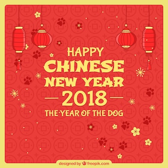 Rode en gele chinese nieuwe jaarachtergrond