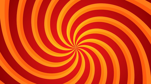 Rode en gele spiral swirl radiale achtergrond
