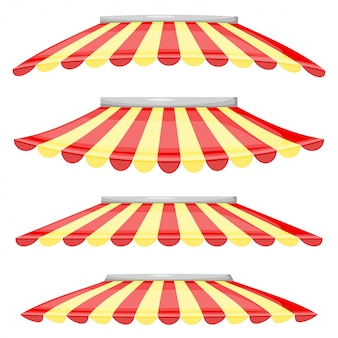 Rode en gele stripwinkel