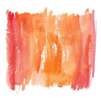 Rode en oranje aquarel textuur met penseelstreken