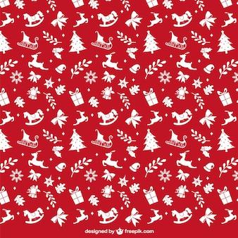 Rode en witte kerst patroon