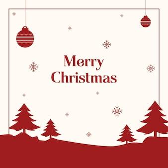 Rode en witte kerstpost