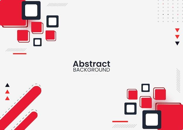 Rode en zwarte abstracte achtergrond met vierkant vormenontwerp