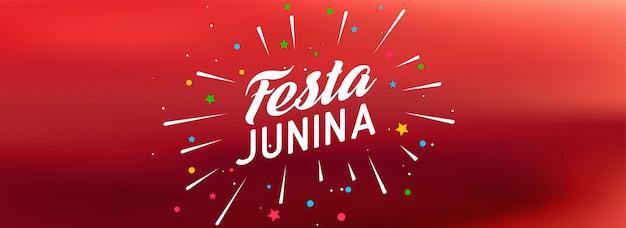 Rode festa junina-vieringsbanner