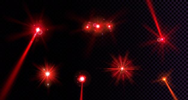 Rode flare lichten ingesteld