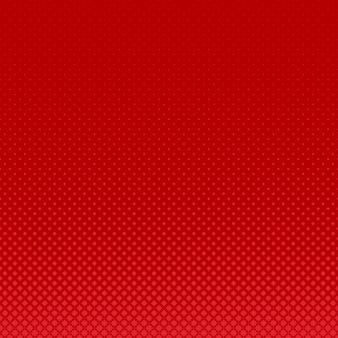 Rode geometrische halftone gebogen sterpatroon achtergrond