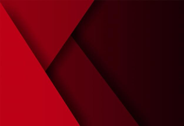 Rode geometrische vorm overlapping achtergrond