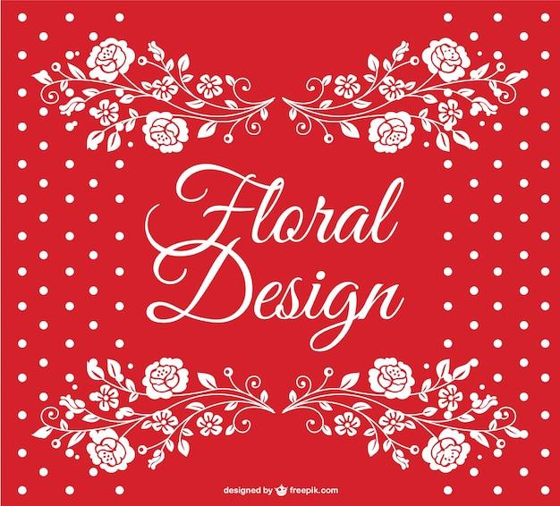 Rode gestippelde bloemen vector