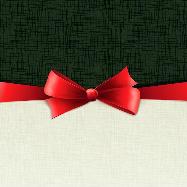 Rode giftbogen met linten. illustratie.