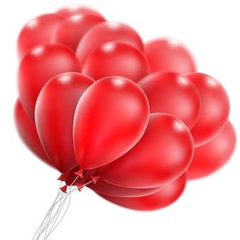 Rode glanzende ballonnen.