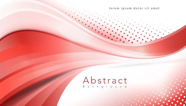 Rode golvende halftone moderne achtergrond