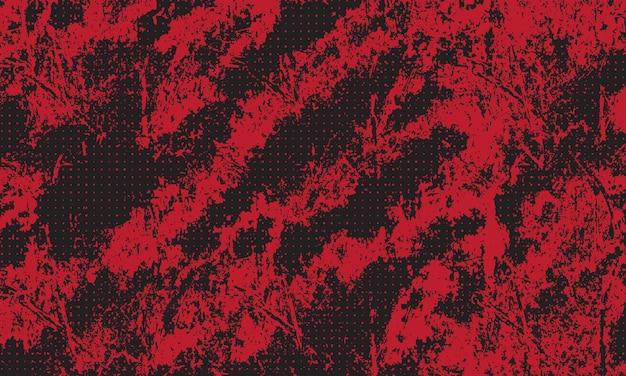 Rode grunge met halftoonpatroon achtergrond