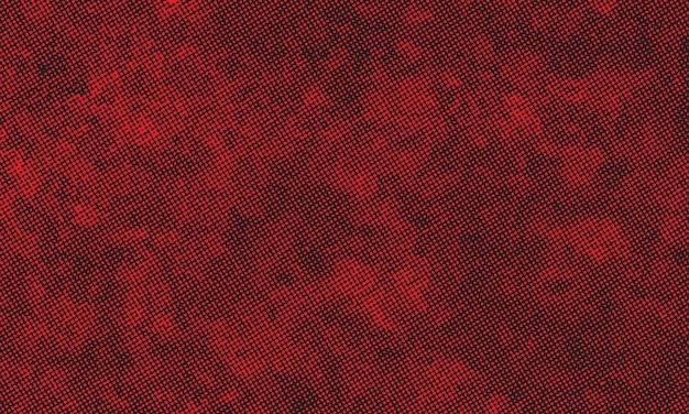 Rode grunge-stijl halftoonpatroon achtergrond