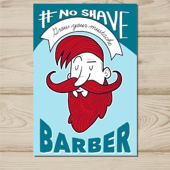 Rode haired movember poster sjabloon