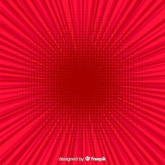 Rode halftone komische achtergrond