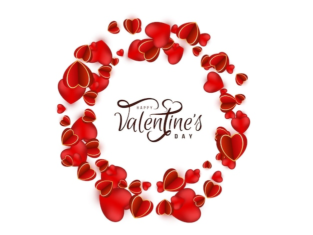 Rode harten gelukkige valentijnsdag achtergrond