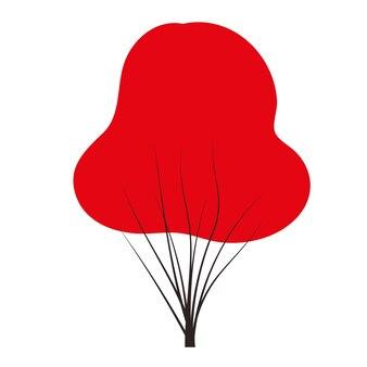 Rode herfst doodles vector elk seizoen winter lente summenr herfst vlakke stijl