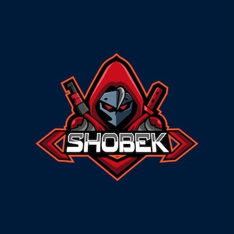 Rode hoodie sniper e sport-logo gaming mascotte