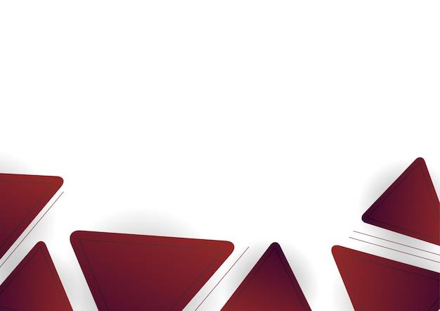 Rode kastanjebruine abstracte geometrische vormen op witte achtergrond. geschikt voor presentatieachtergrond, banner, webbestemmingspagina, ui, mobiele app, redactioneel ontwerp, flyer, banner en andere gerelateerde gelegenheden