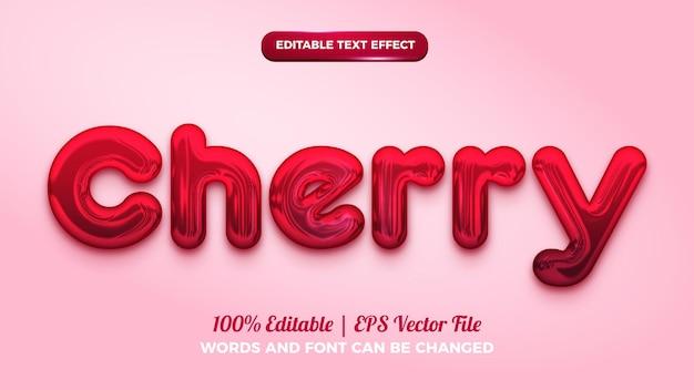 Rode kers 3d bewerkbaar teksteffect