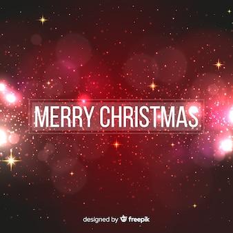 Rode kerst achtergrond wazig