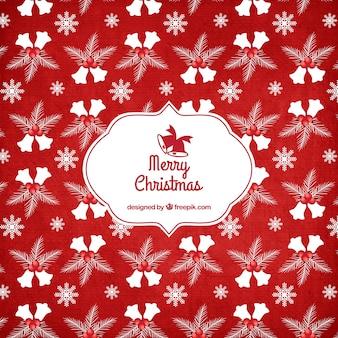Rode kerst patroon