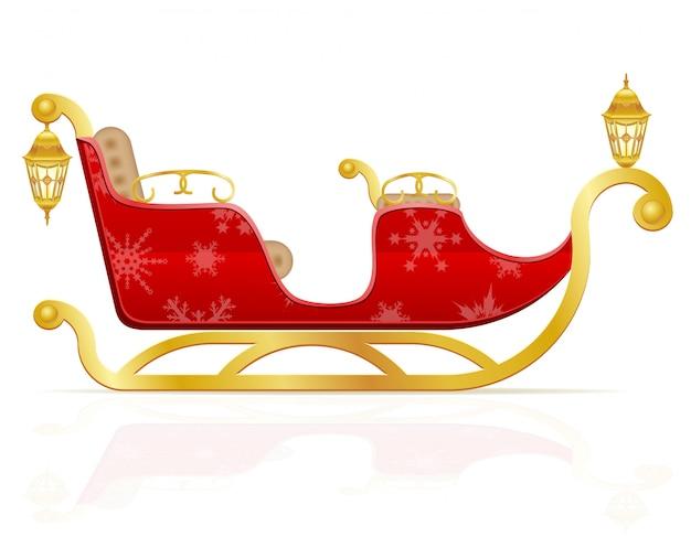 Rode kerstmisar van de vectorillustratie van de kerstman
