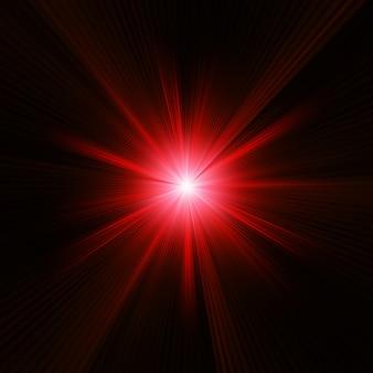 Rode kleur design met een burst.