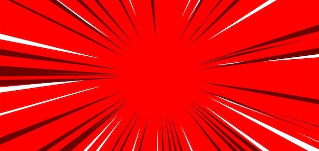 Rode komische burst-achtergrond