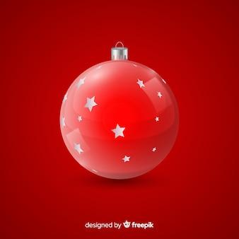 Rode kristallen kerstbal