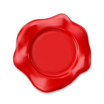 Rode lakzegel geïsoleerd op een witte achtergrond.