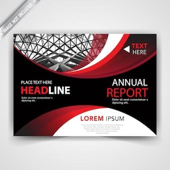 Rode leaflet ontwerp