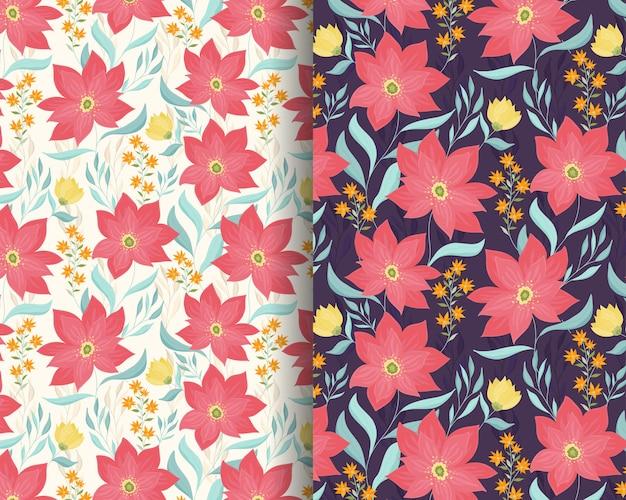 Rode lelie tuin patroon