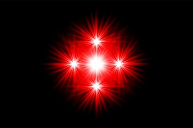 Rode lens flare collectie premium transparante eps