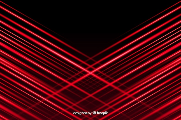 Rode lichten die met zwarte achtergrond doorkruisen
