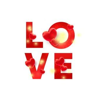Rode liefdesbrieven met 3d geïsoleerd decor. illustratie voor website, coupons, promotiemateriaal.