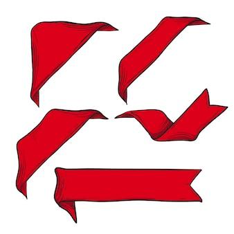 Rode linten instellen voor elementen