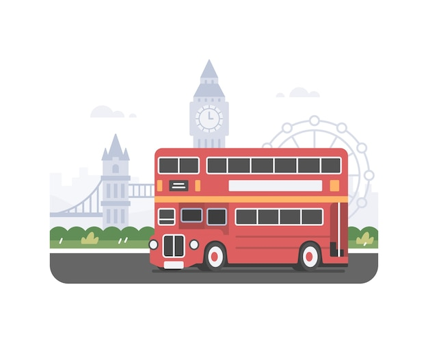 Rode londense bus