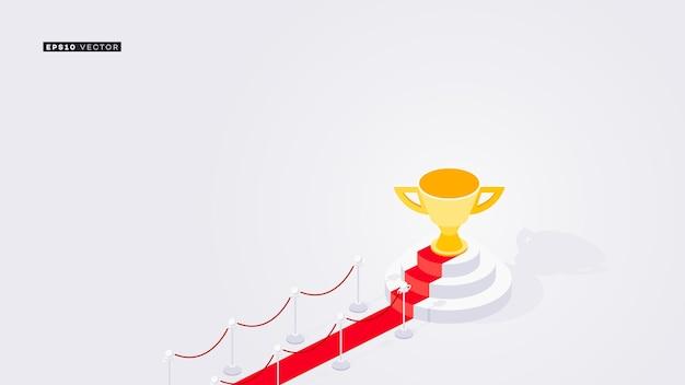 Rode loper op het podium van de winnaars