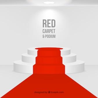 Rode loperachtergrond in realistische stijl