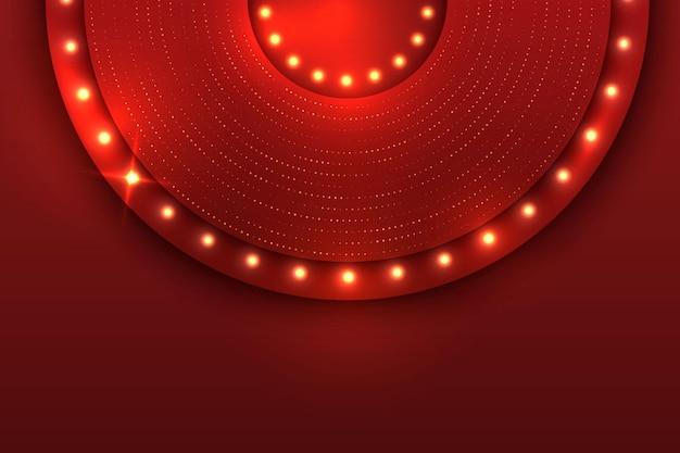 Rode luxe golf lay-out achtergrond kosmische glinsterende magische fee stof sjabloon brochure ontwerpconcept