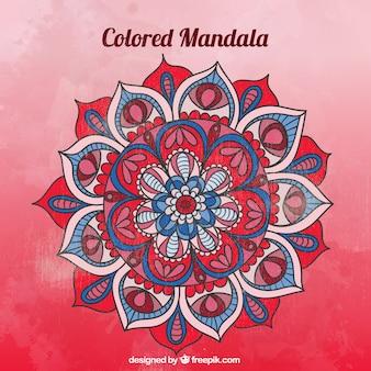 Rode mandala achtergrond