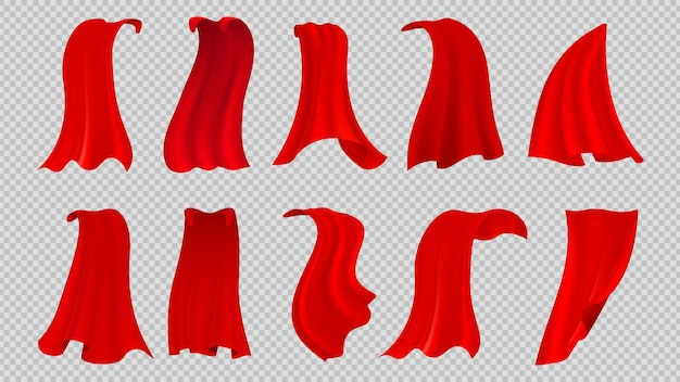 Rode mantels ingesteld