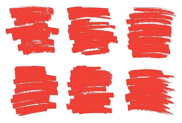 Rode marker vlekken