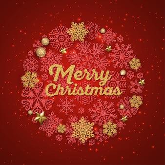 Rode merry christmas wenskaart