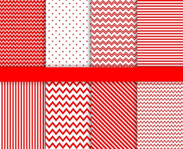 Rode naadloze patroon ingesteld
