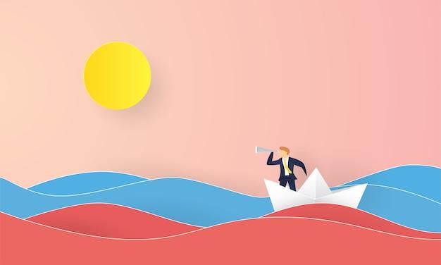Rode oceaan en blauwe oceaan concept inspiratie bedrijf